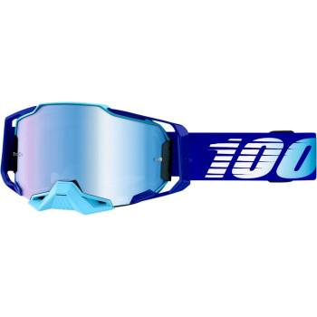 100% Armega Crossbril Royal Blue-Blue Mirror