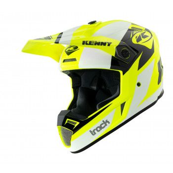 Kenny Crosshelm Track Graphic White/Neon Yellow