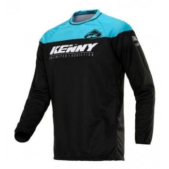 Kenny Track Crossshirt Black/Blue