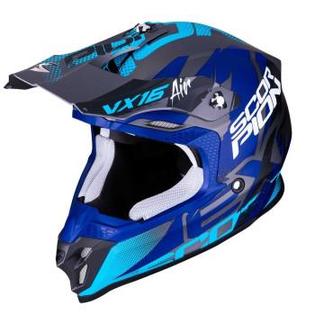 Scorpion Crosshelm VX-16 Albion Matt Silver/Blue