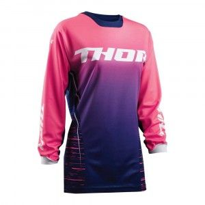 Thor Dames Shirt Pulse Dashe Navy/Pink