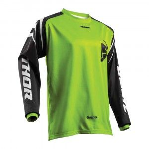 Thor Kinder Crossshirt Sector Zones Lime