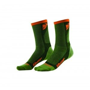 Thor Crosssokken Dual Sport Green/Orange