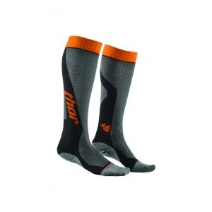 Thor Crosssokken MX Cool Gray/Orange