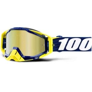 100% Crossbril Racecraft Bilal Navy/Mirror Gold