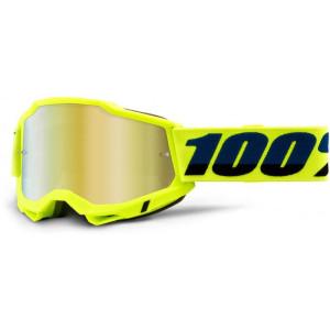 100% Crossbril Accuri 2 Yellow/Mirror Gold