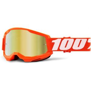 100% Crossbril Strata 2 Orange/Mirror Gold