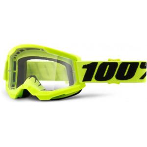 100% Crossbril Strata 2 Yellow/Clear