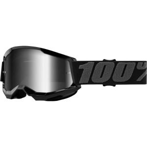 100% Kinder Crossbril Strata 2 Youth Black/Mirror Silver