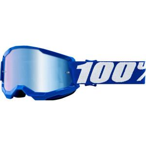 100% Kinder Crossbril Strata 2 Youth Blue/Mirror Blue