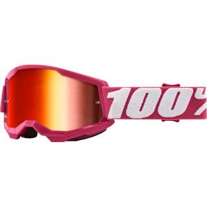 100% Kinder Crossbril Strata 2 Youth Fletcher/Mirror Red