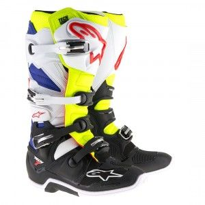 Alpinestars Crosslaarzen Tech 7 White/Fluor Yellow/Blue