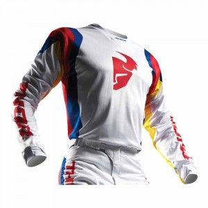 Thor Crossshirt Pulse Air Profile White/Blue