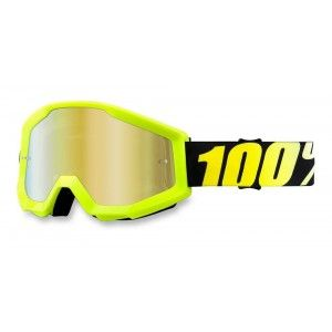 100% Crossbril Strata Neon Yellow/Mirror Gold
