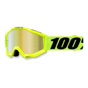 100% Kinder Crossbril Accuri Youth Fluo Yellow/Mirror Red