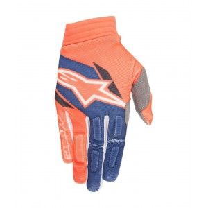Alpinestars Handschoenen Aviator Fluo Orange/Dark Blue