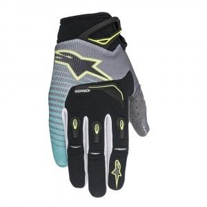 Alpinestars Handschoenen Techstar Black/Teal/Fluor Yellow