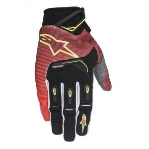Alpinestars Handschoenen Techstar Red/White/Fluor Yellow