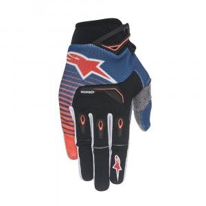 Alpinestars Handschoenen Techstar Dark Blue/Fluor Orange/White
