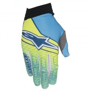 Alpinestars Handschoenen Aviator Fluor Yellow/Cyan/Dark Blue