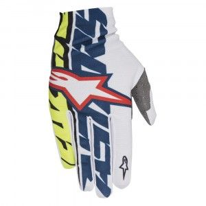 Alpinestars Handschoenen Dune White/Dark Blue/Fluor Yellow