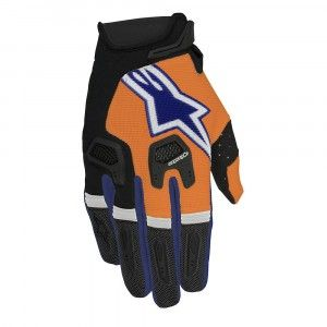 Alpinestars Handschoenen Racefend Fluor Orange/Dark Blue/White