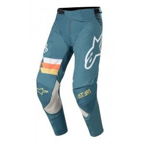 Alpinestars Techstar Venom Crossbroek Petrol/White/Orange Fluo