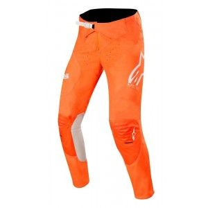 Alpinestars Supertech Crossbroek Orange Fluo/White/Blue