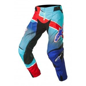 Alpinestars Broek Techstar Venom Blue/Cyan/Red-32