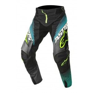 Alpinestars Broek Techstar Factory Black/Teal/Fluor Yellow-30