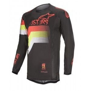 Alpinestars Techstar Venom Crossshirt Black/Red Fluo/Yellow Fluo