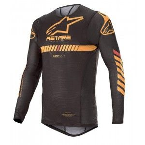 Alpinestars Supertech Crossshirt Black/Orange/Red Fluo
