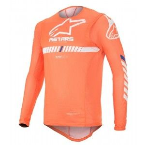 Alpinestars Supertech Crossshirt Orange Fluo/White/Blue