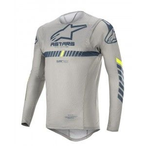 Alpinestars Supertech Crossshirt Gray/Navy/Yellow Fluo