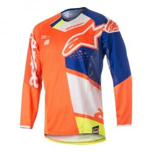 Alpinestars Crossshirt Techstar Factory Fluor Orange/Blue/White/Fluor Yellow-XXL