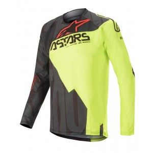 Alpinestars Techstar Factory Crossshirt Black/Yellow Fluo/Red Fluo