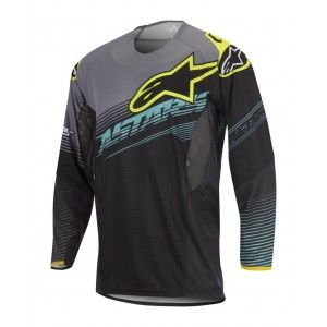 Alpinestars Shirt Techstar Factory Black/Teal/Fluor Yellow-M