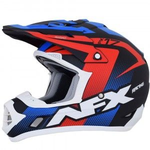 AFX Crosshelm FX-17 Matte Black/Red/White/Blue