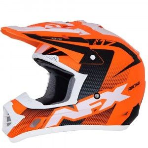 AFX Crosshelm FX-17 Neon Orange/Black/White