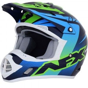 AFX Crosshelm FX-17 Blue/Green/Blue