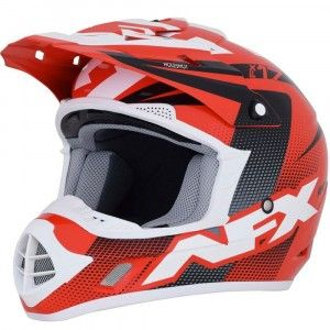 AFX Crosshelm FX-17 Red/Black/White