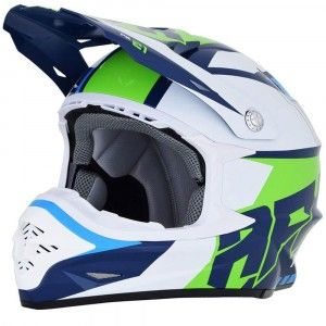 AFX Crosshelm FX-21 Blue/Green/White