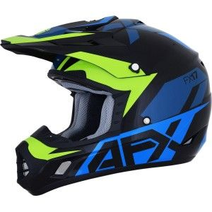 AFX FX-17YE Kinder Crosshelm Blue/Lime