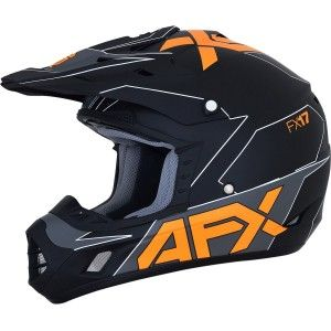 AFX FX-17YE Kinder Crosshelm Matt Black/Orange