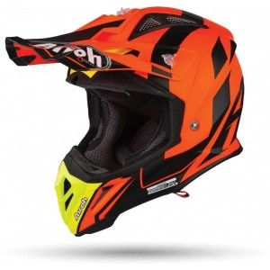 Airoh Aviator 2.3 AMS Crosshelm Bigger Orange Matt