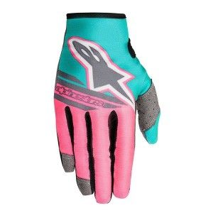 Alpinestars Handschoenen Limited Edition Indy Vice Radar Flight Gray/Pink/Turquoise