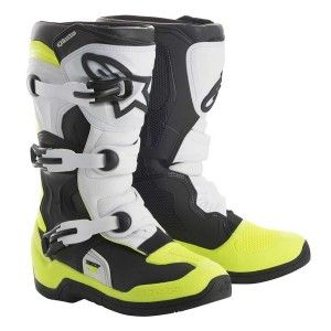 Alpinestars Youth Crosslaarzen Tech 3S Black/White/Fluor Yellow