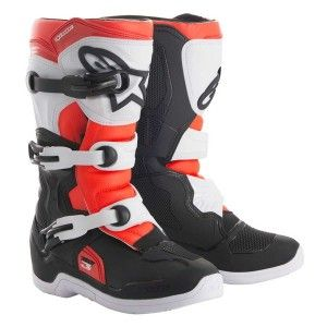 Alpinestars Youth Crosslaarzen Tech 3S Black/White/Fluor Red
