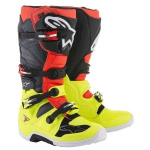 Alpinestars Crosslaarzen Tech 7 Fluor Yellow/Fluor Red/Gray/Black