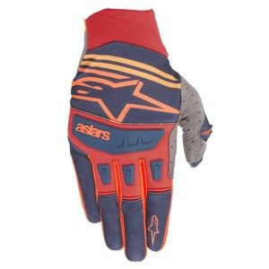 Alpinestars Handschoenen Techstar Dark Blue/Red/Tangerine